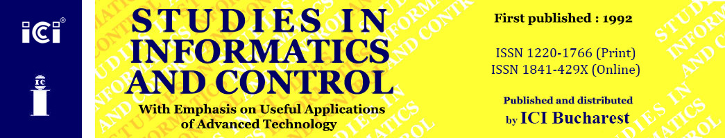 Studies in Informatics and Control – ICI Bucharest