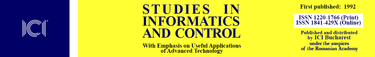 Studies in Informatics and Control – ICI Bucharest